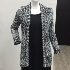 Jones New York Knit Sheer Cardigan